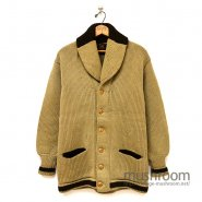 TWO-TONE SHAWLCOLLER CARDIGAN