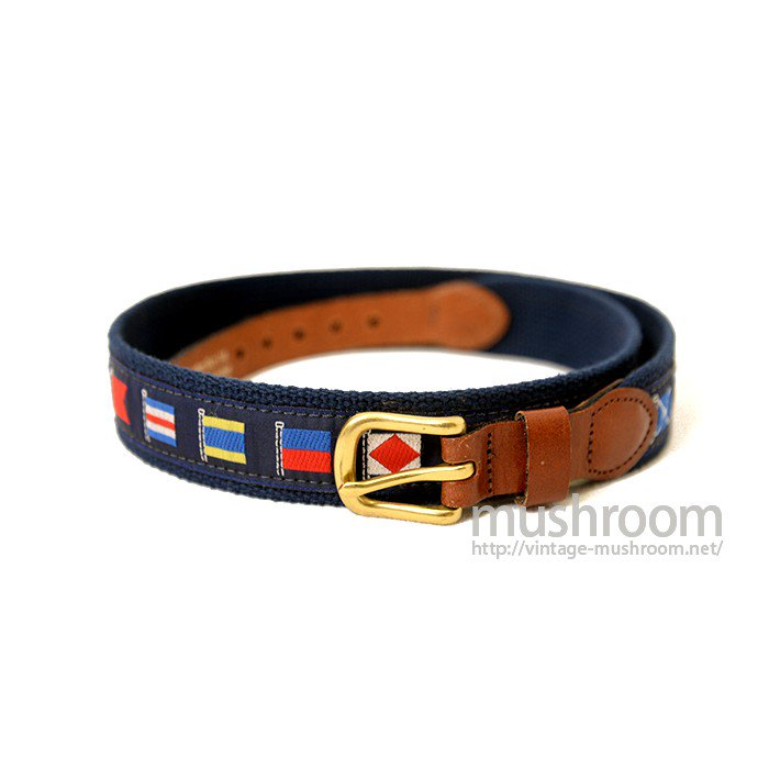 LEATHER MAN LTD FLAG PATTERN BELT( DEADSTOCK )