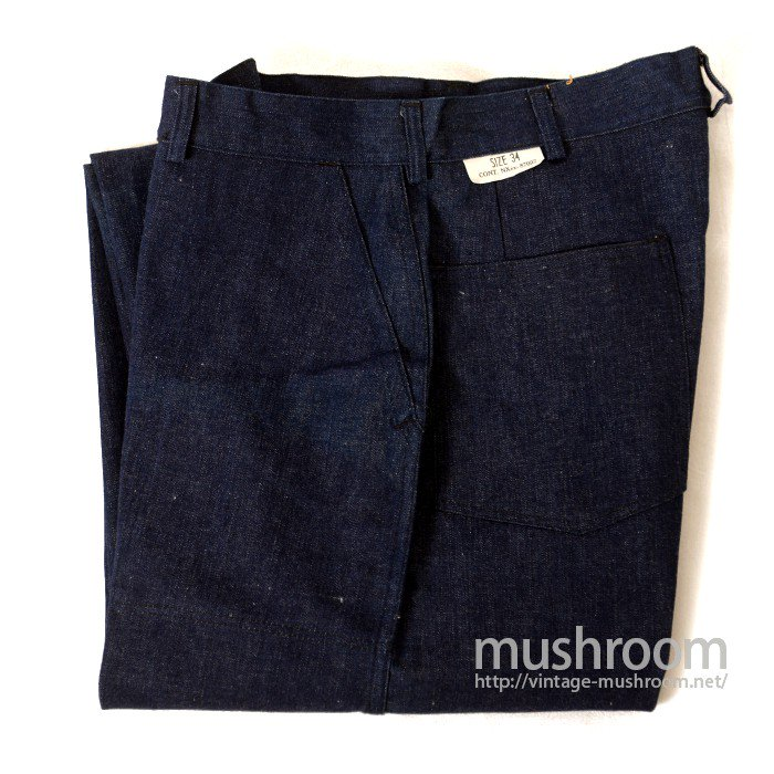WW2 U.S.NAVY DUNGAREE DENIM TROUSER( 34/DEADSTOCK )