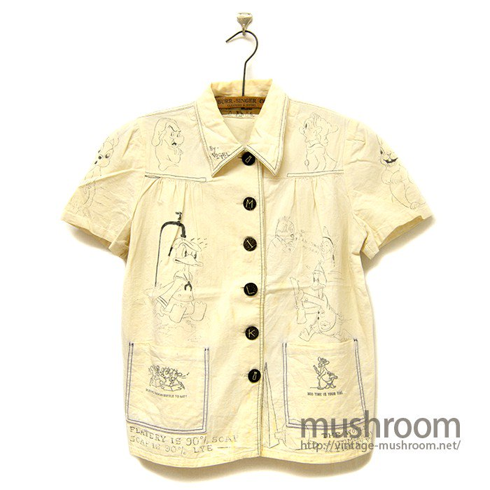 OLD MILK SHIRT WITH HAND-DRAWING