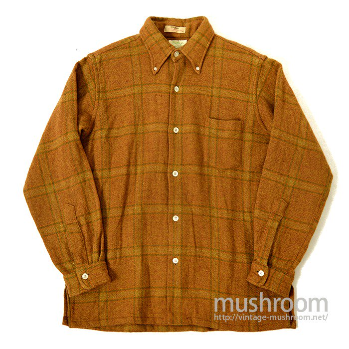 GOKEY PLAID BD WOOL SHIRT( MADE BY GANT )