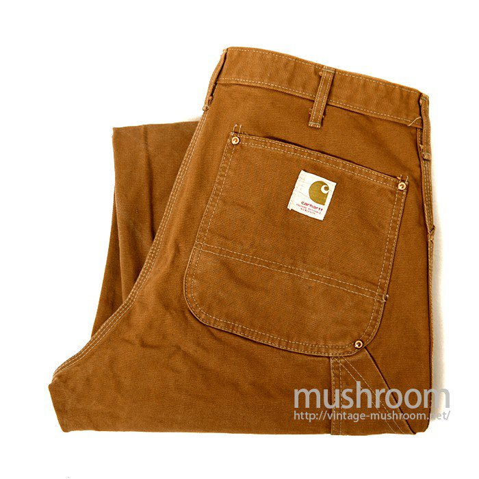 CARHARRT BROWN DUCK DOUBLE KNEE TROUSERS
