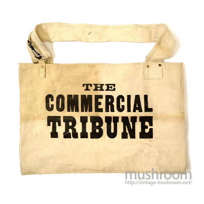 OLD NEWSPAPER CANVAS BAG( ONE-WASHED )