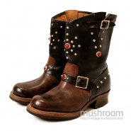OLD STUDDED JEWEL ENGINEER BOOTS