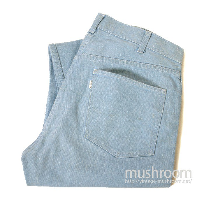 LEVI'S 500L BIGE LIGHT BLUE DENIM TAPERED PANTS