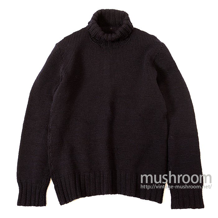 WW2 AMERICAN RED CROSS TURTLE-NECK SWEATER( NAVY BLUE )