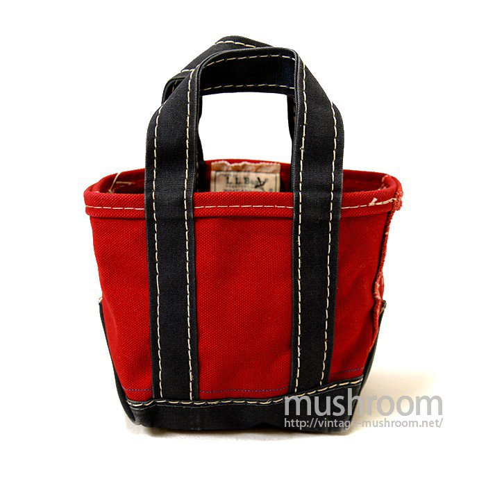 L.L.BEAN TWO-TONE CANVAS TOTE BAG( RED AND NAVY  )