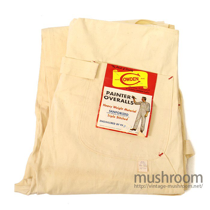 COWDEN UNBLEACHED COLOR COTTON OVERALL( DEADSTOCK )