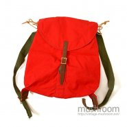 L.L.BEAN CANVAS RUCKSACK( RED/MINT )