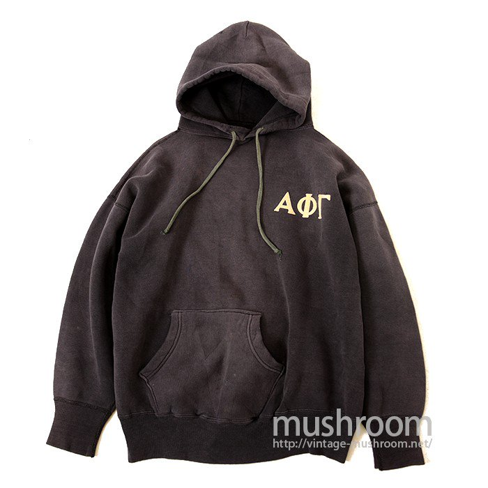 OLD SWEAT HOODY WITH FELT PRINTED