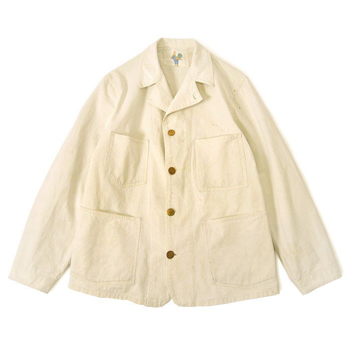 CAN'T BUST'EM WHITE COTTON COVERALL