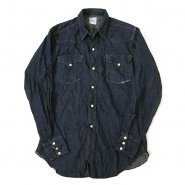 LEVI'S SHORTHORN DENIM WESTERN SHIRT( ONE-WASHED )
