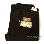 LEVI'S 518 BIGE BLACK COTTON TAPERED PANT'S( DEADSTOCK )