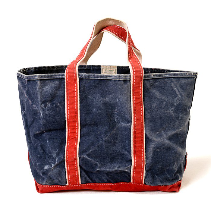 L.L.BEAN CANVAS TOTE BAG( NAVY & RED )