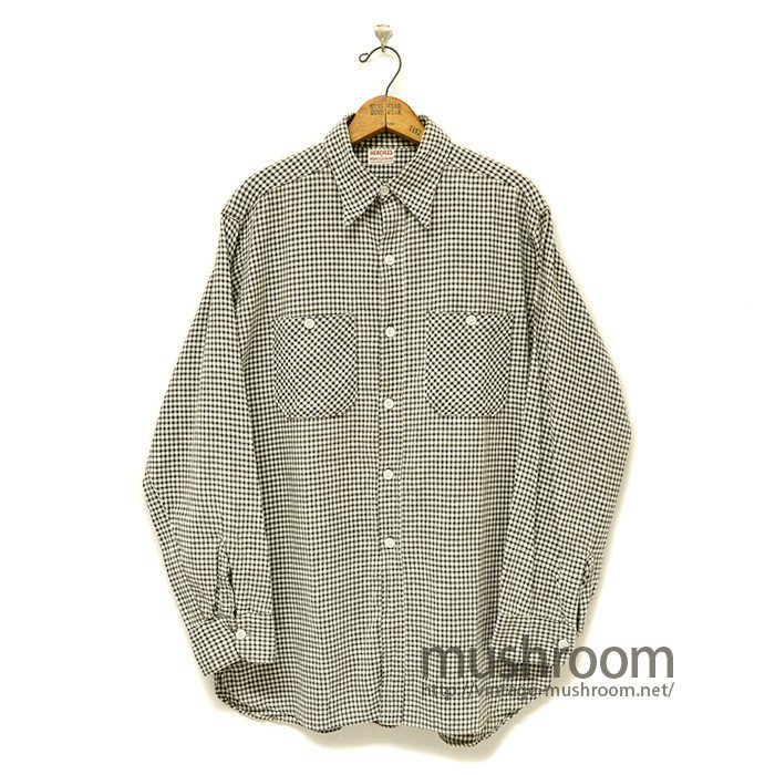 HERCULES BLACK&WHITE GINGHAM CHECK WORK SHIRT
