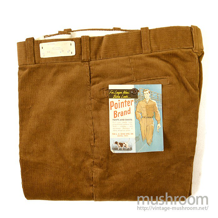 POINTER CORDUROY WORK TROUSER( DEADSTOCK )