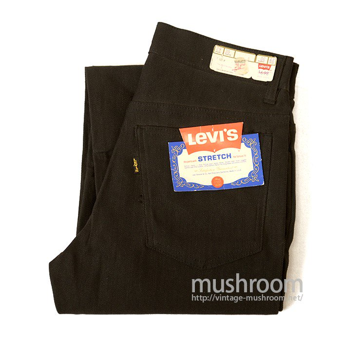 LEVI'S 612-0559 BLACK STRETCH TAPERED SLIM PANTS( DEADSTOCK )