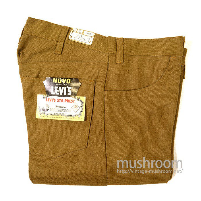 LEVI'S BIGE STA-PREST TAPERED PANTS( W32/DEADSTOCK )