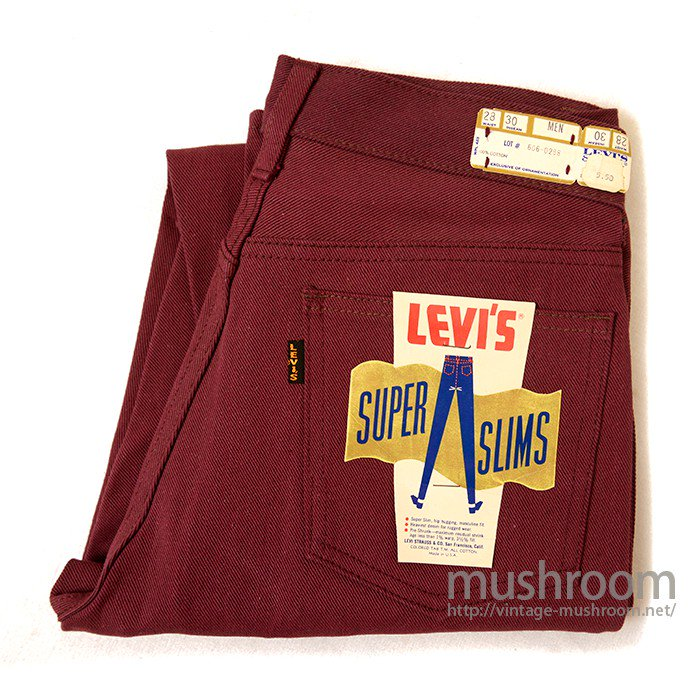 LEVI'S 606 BIGE SUPER SLIM COTTON PANTS( DEADSTOCK )