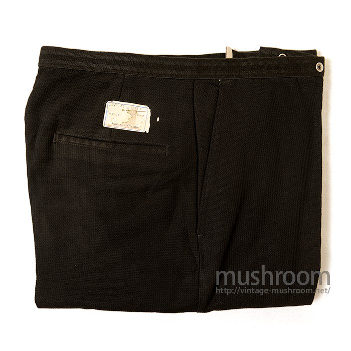 LEVI'S BLACK COTTON TAPERED PANTS( W32/DEADSTOCK )