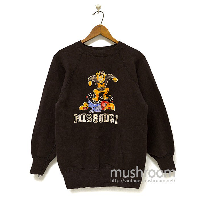 OLD COLLEGE SWEAT SHIRT WITH FLOCK PRINTED