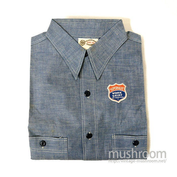 IDEAL CHAMBRAY WORK SHIRT( DEADSTOCK )