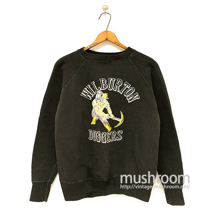 OLD COLOR FLOCK PRINT SWEAT SHIRT( BLACK/RARE PRINT )