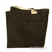 OLD STRIPE COTTON WORK TROUSER( CONE FABRICS/DEADSTOCK )