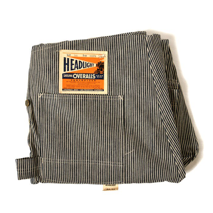 HEAD LIGHT HICKORY-STRIPE OVERALL( DEADSTOCK )