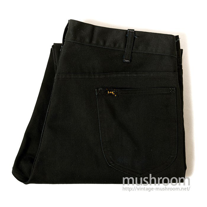 LEENS BLACK TAPERED SLIM PANTS