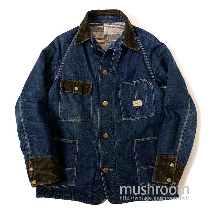 THE BIG FABORITE BRAND DENIM COVERALL WITH CHINSTRAP