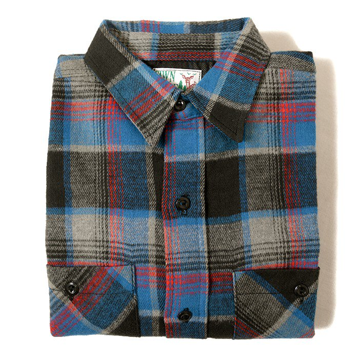 FAWN GROVE PLAID FLANNEL SHIRT( DEADSTOCK )