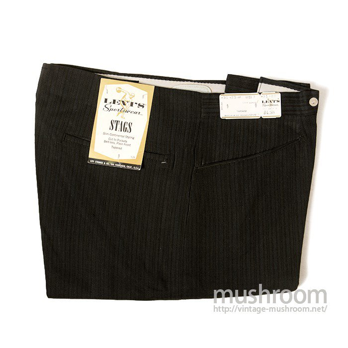 LEVI'S SPORTSWEAR BLACK COTTON TAPERED PANTS( DEADSTOCK )