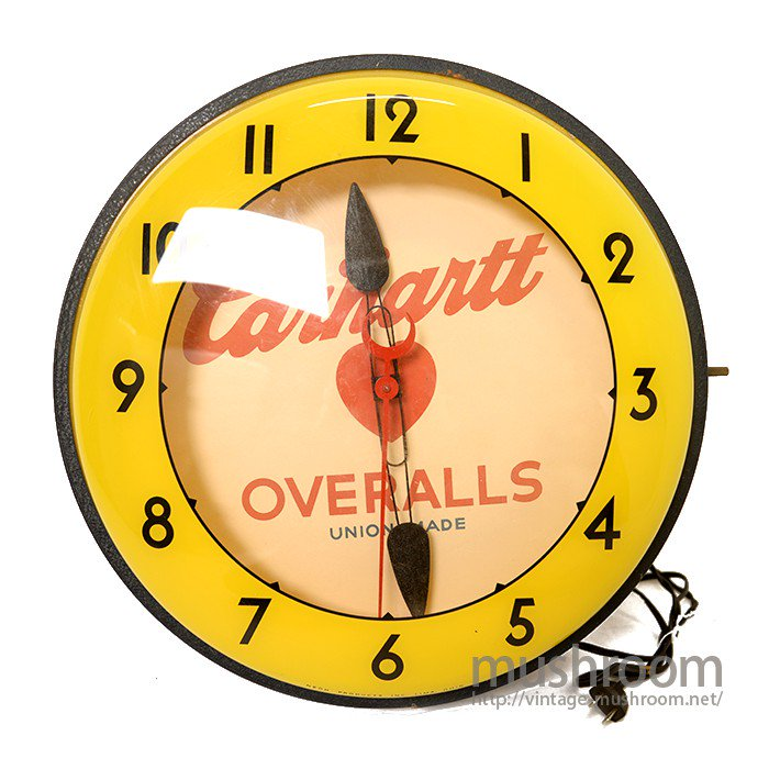CARHARTT ADVERTISING SIGN WALL CLOCK