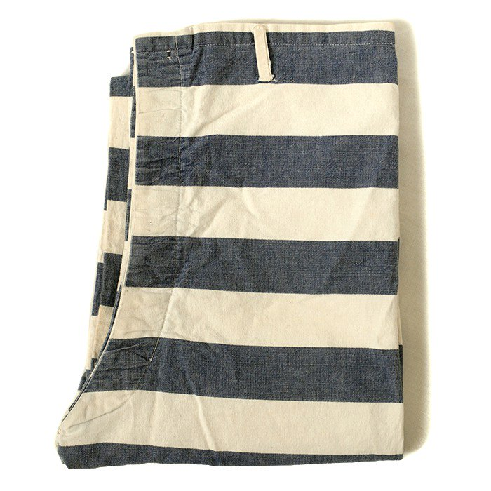 OLD STRIPE PRISONER COTTON PANTS