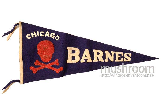 CHICAGO BARNES SKULL FELT PENANT