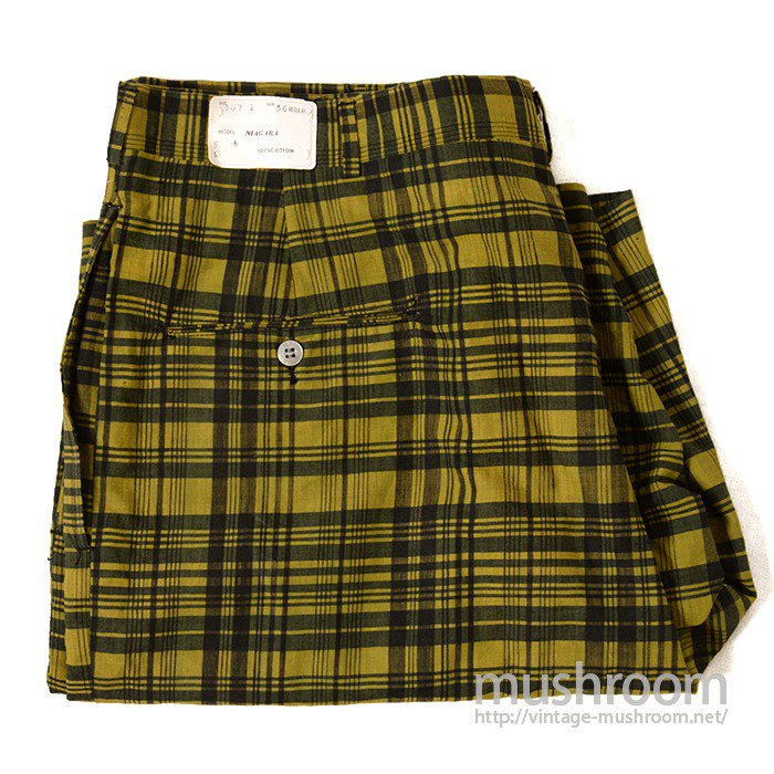 ALAN EVAN INDIA MADAS PLAID COTTON SHORTS( 36/DEADSTOCK )