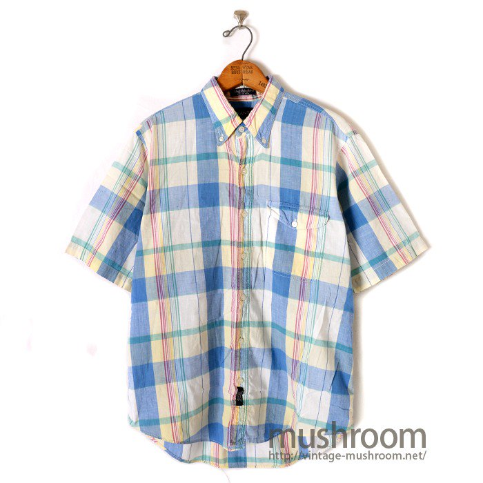 GANT MADRAS PLAID COTTON BD S/S SHIRT
