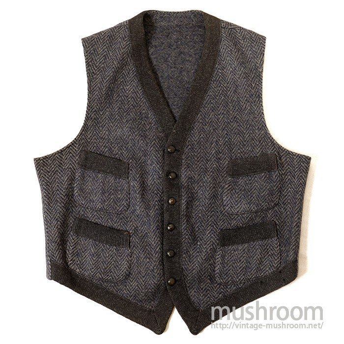 OLD FOUR-POCKET WOOL VEST( MINT )