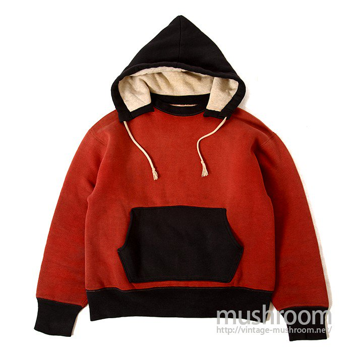 W/FACE TWO-TONE AFTER HOODY  SWEAT SHIRT( NON-WASHED/MINT )