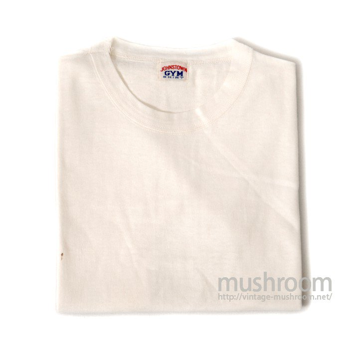 JOHNSTOWN GYM PLAIN ALL COTTON T-SHIRT( DEADSTOCK )