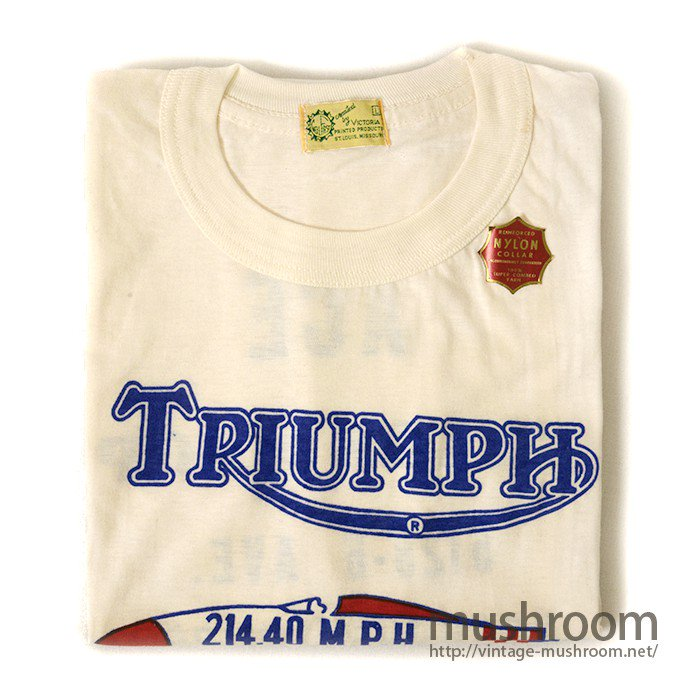 TRIUMPH MOTORCYCLE T-SHIRT( DEADSTOCK )