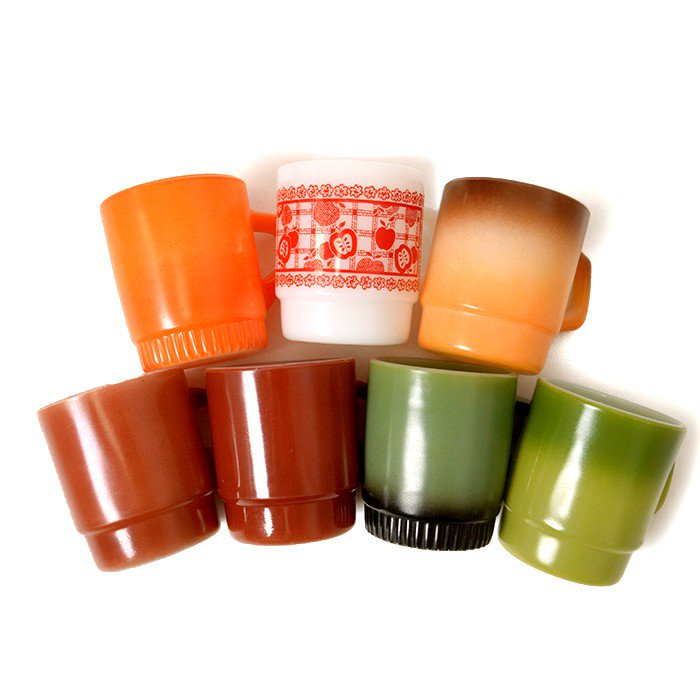 FIRE-KING MUG CUP( 7PCS SET )
