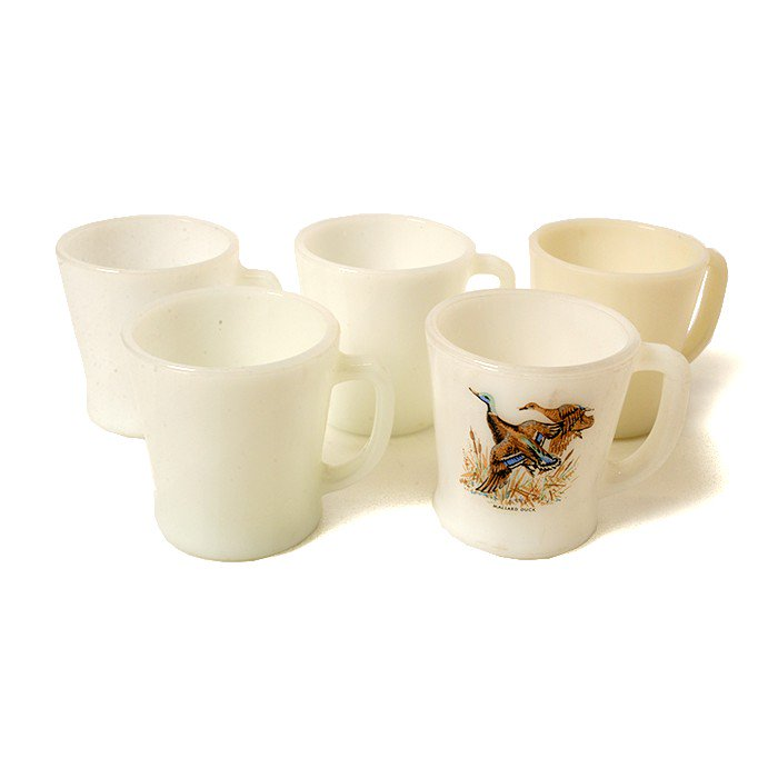 FIRE-KING D HANDLE MUG CUP(5 PCS SET )