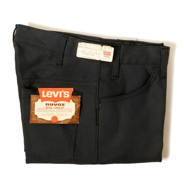 LEVI'S BIGE STA-PREST TAPERED PANTS( W30/DEADSTOCK )