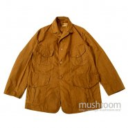 DRY BACK BROWN COTTON HUNTING JACKET