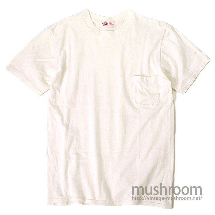 AKOM WHITE COTTON T-SHIRT WITH POCKET