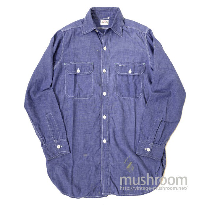 KingKole BLUE CHAMBRAY WORK SHIRT