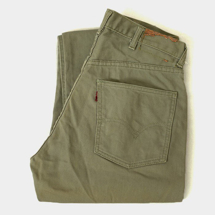 LEVI'S 911K BIGE PIQUE TAPERED PANTS