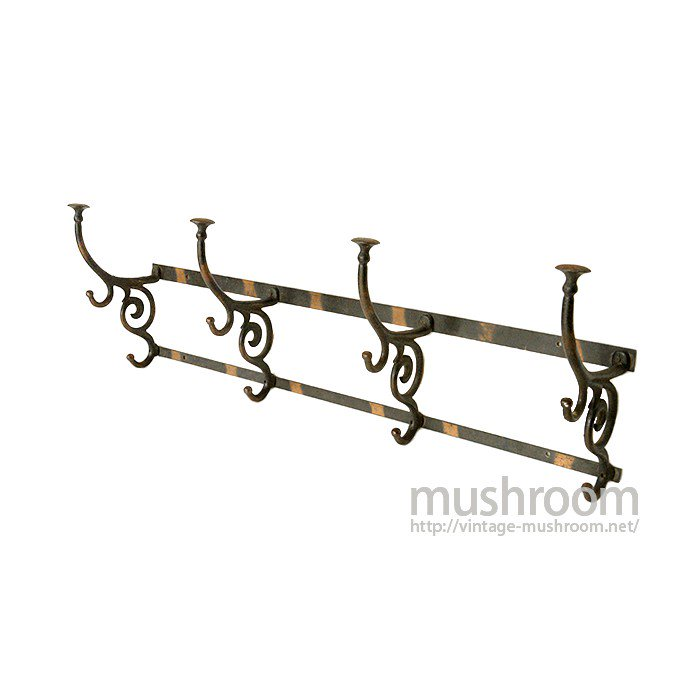 OLD CAST IRON WALL HANGER RACKS( JAPAN FINISH )
